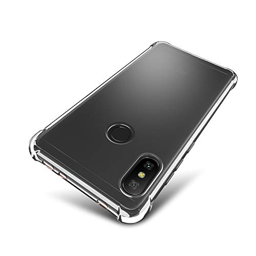 SLEO Xiaomi Redmi Note 6 Pro Case [Air Cushion] Flexible Soft TPU Bumper Case with Shock-Absorption...