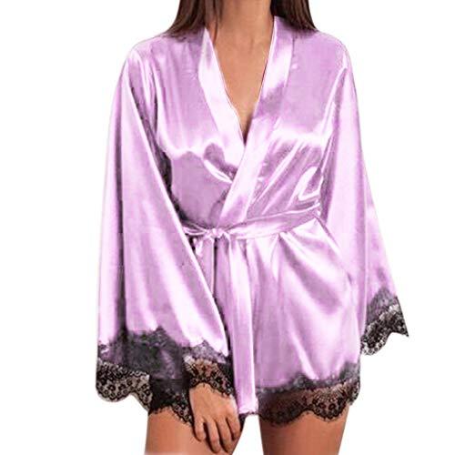 cangyiyiQING Damen Dessous Sexy Unterwäsche-Kleid aus Satin-Pyjamas Lingerie Split Fashion Sexy Lace Nachtwäsche Dessous Versuchung Babydoll Unterwäsche Nachthemd