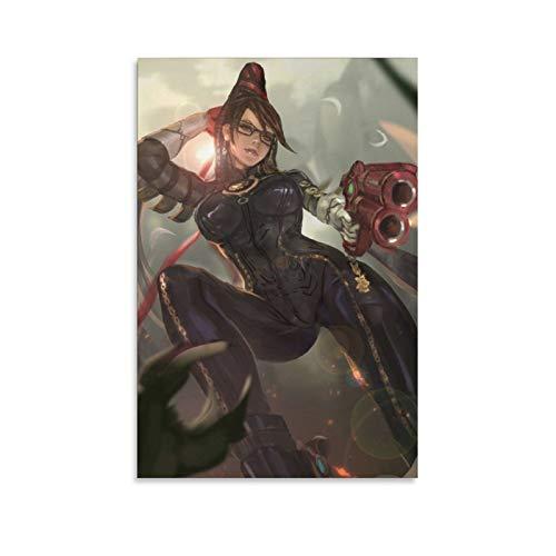 yingzi Anime-Cartoon-Figur, Bayonetta-Krieger-Poster, dekoratives Gemälde, Leinwand, Wandkunst, Wohnzimmer, Poster, Schlafzimmer, Malerei, 20 x 30 cm