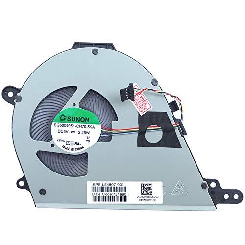 Ventilator koeler fan koeler compatibel met HP Chromebook 15-de, ChromeBook 15-de0000, ChromeBook 15t-de, ChromeBook 15t-de000