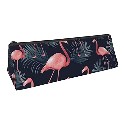 Summer Palm Night Vibes - Bolsa de almacenamiento para bolígrafos tropicales de pequeña capacidad para niños y niñas, escuela, oficina, alicates de papelería