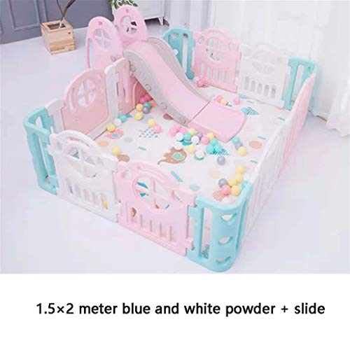 Best Prices! Baby Vivo Large Baby Plastic Big Playpen Foldable Portable Room Divider Child Kids Barr...