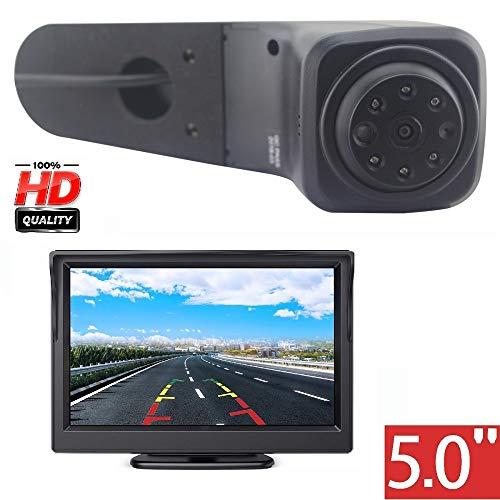 HD 720p Auto Tercera techo Top Mount luz de freno cámara de marcha atrás para VW Crafter Transporter 2017-2019+5.0' pantalla TFT DVD Camión Coche LCD Display