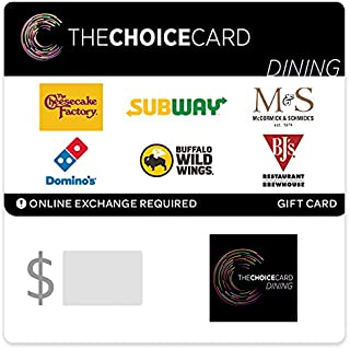 The Choice Card Dining Gift Cards - Email Delivery
