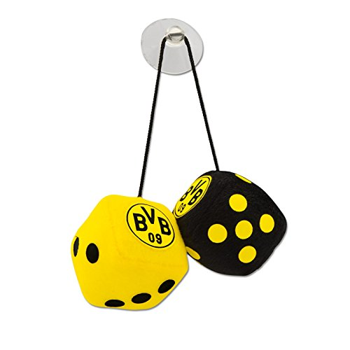 Borussia Dortmund Plüschwürfel / Autowürfel / Würfel / Glückswürfel BVB 09 - plus gratis Aufkleber forever Dortmund