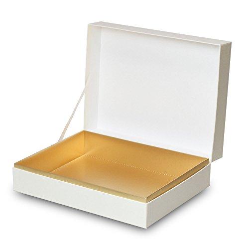 【メーカー直送品のため代引不可】高級ギフト箱 貼り箱ALLESシリーズ ヒンジケース1072【白】 30個セット (ギフトボックス お菓子 贈答用 箱 菓子箱 化粧箱)