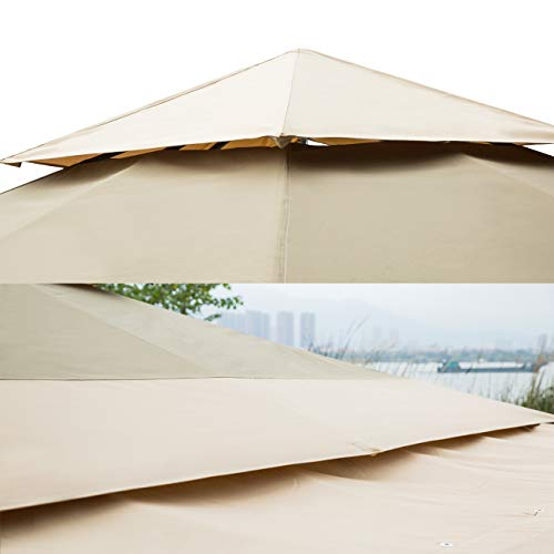 Sunnyglade 10.8' x 10.8' Gazebo Tent with 2 Removable Side Walls for Your Yard, Outdoor, Garden, Patio or Party