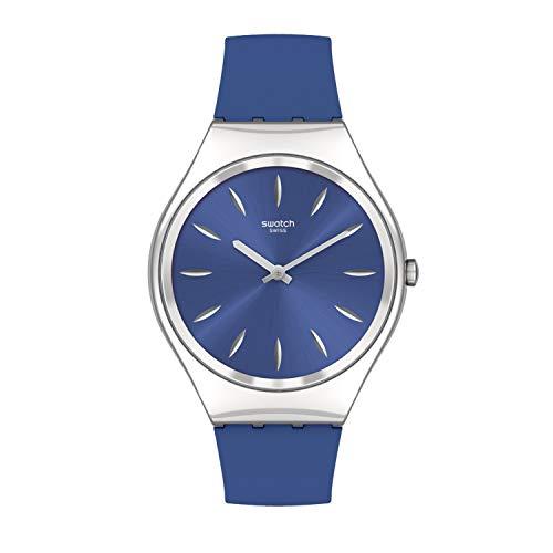 Swatch Unisex_Adulto Cuarzo st. Correa de acero, azul, 16 Reloj Casual (Modelo: SYXS132)