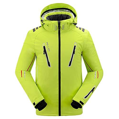 PELLIOT Outdoor-Ski-Abnutzungs Unisex Berufsbergsteigen Wasserdichte Breathable Kleidung, S, leuchtendes grün