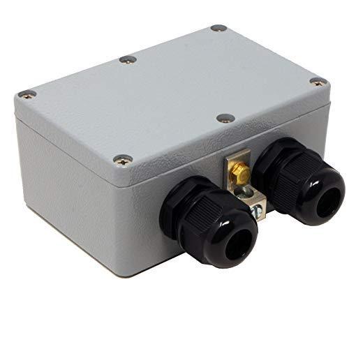 Tupavco TP306 Ethernet-Überspannungsschutz, PoE+ Gigabit, GDT Gasentladungsröhre, RJ45 Lightning Suppresor, LAN Netzwerk CAT5 CAT6 Thunder Arrestor, GbE 1000 Mbit/s, wetter- und wasserfest, wetterfest