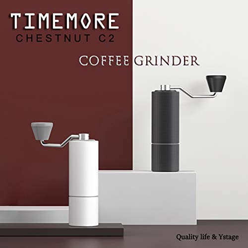 TIMEMORE CHESNUT C2 Bean Burr Mill with Adjustable Setting, Espresso, French Press, Turkish Brew Best CNC Stainless Steel Coffee Grinder Portable Design