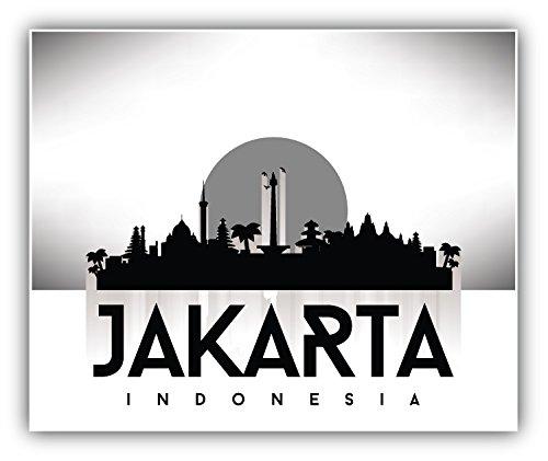 Jakarta Indonesia Travel Art Decal Bumper Vinyl Sticker