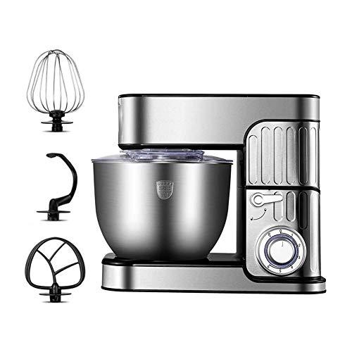 Küchenmaschine Rührer Ständer 5L Mixer Küchenmaschine 1000 W, 6 Geschwindigkeit Leicht Zu Bedienen Und Reinigen Inklusive Schüssel Schneebesen, Rührbesen, Knethaken (Size : 5L)