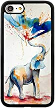 iPhone Case for iPhone 6 / 6s,by Soft TPU and PC Hard Back Cover Shock-Proof Protective Case [Anti-Slippery] (Watercolor Elephant Spray Color Degsin)