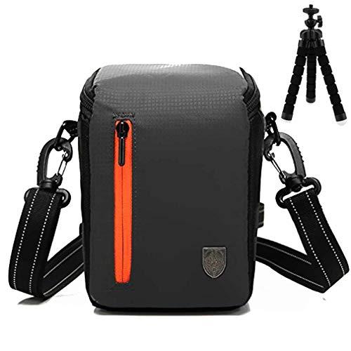 Negro Funda Protectora con Bandolera Ajustable Bolsa para DLSR cámara de Fotos para Canon EOS M100 M10 .EOS M50 .EOS M5. EOS M6 with (15-45mm) SX430 SX420 SX410 G1X Mark III
