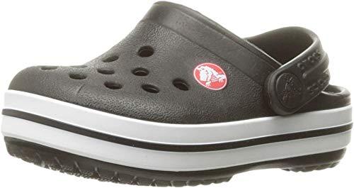 Crocs Sabots pour enfant | Chaussures à enfiler pour enfant | Légères, Noir (Noir poussiéreux.), 4 Big Kid
