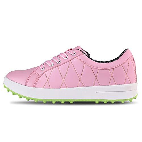 RTY Zapatos De Golf para Mujer, Zapatillas De Piel Impermeable Mujer, Zapatos...