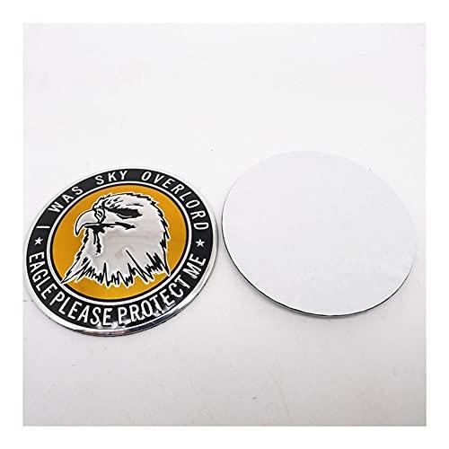 4 unids 65mm Rueda Cap Pegatina Etiqueta Estilismo Emblema Insignia Tiger León Eagle Head (Color Name : B)