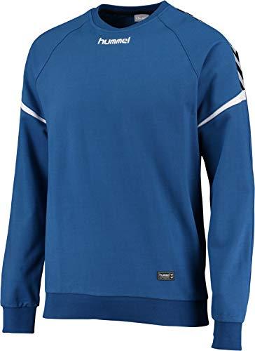 hummel Sweat Sweat-Shirt – Authentic Charge Cotton – Training Pull à Manches Longues – T-Shirt à Manches Longues Ourlet élastique, Taille & col – T-Shirt à Manches Longues Div. Couleurs 4XL True Blue