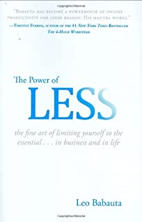 The Power of Less: The Fine Art of Limiting Yourself to the Essential...in Business and in Life (1401309704)   Amazon price tracker / tracking, Amazon price history charts, Amazon price watches, Amazon price drop alerts