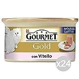 Purina Juego 24 Gourmet Gold Mousse Becerro Kitten Gr 85Comida para Gatos
