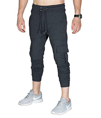 BetterStylz heren joggingbroek Cargo MatlockBZ slim fit fitness broek trainingsbroek cargobroek 4 kleuren (S-XL)