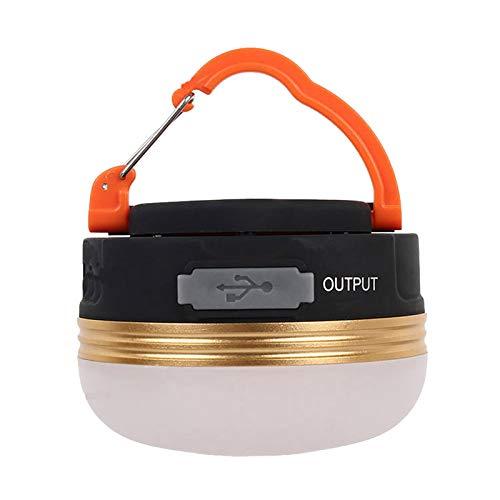MARIJEE Linterna de camping, recargable por USB, con base magnética, 3 modos, impermeable, portátil, tienda de campaña para senderismo, pesca, emergencia