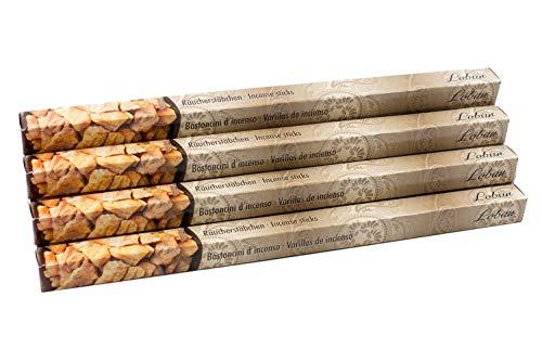 Premium Räucherstäbchen Loban mit echtem Weihrauch Harz/Olibanum - 10 Packungen Natürliche Räucherstäbchen aus Indien in hoher Qualität und langer Brenndauer von ca. 45min