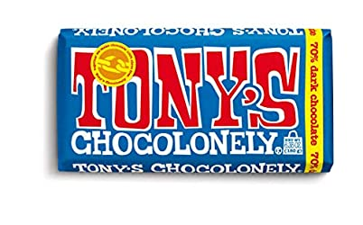 Tony's Chocolonely 70% Dark Chocolate Bar, 6.35 Ounce