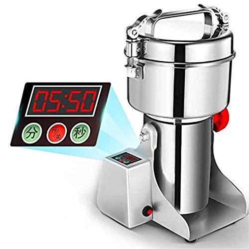 Marada 500g Pulverizer Grinding Machine Stainless Steel 25000 r/min Pulverizer Machine for Kitchen Herb Spice Pepper Coffee Powder Grinder (500g)