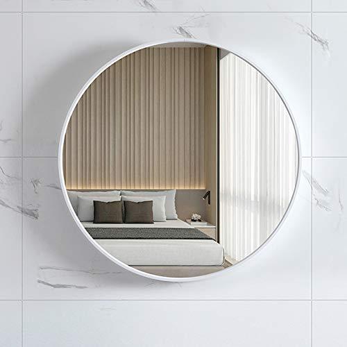 Espejo De Baño Espejo De Pared, Espejo Redondo De Baño Nórdico, Blanco, Negro, Dorado
