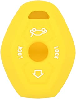 SEGADEN Silicone Cover Protector Case Skin Jacket fit for BMW 3 Button Remote Key Fob CV4902 Yellow