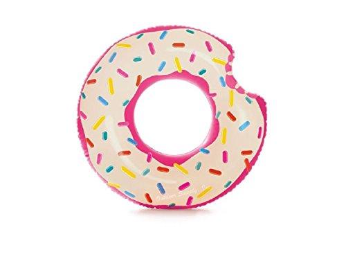 Lustiger Donut Badering Schwimmring Schwimm Ring Schwimmreifen Reifen Swim Ring Schwimmreifen aufgeblasen ca. 107 cm, PVC Folie ca. 0,20 mm super Schwimmspass Kinder Spass