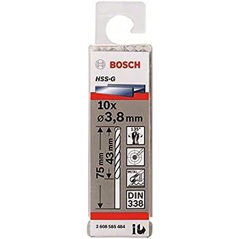 5,1 x 52 x 86 mm Pack de 10 brocas para metal HSS-G Bosch 2 608 585 491 DIN 338