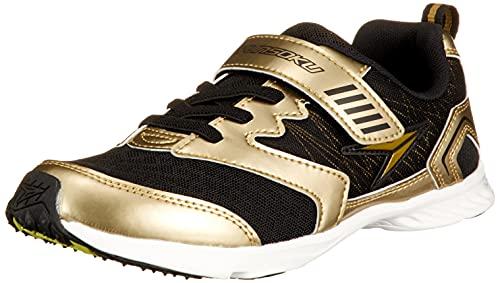 [シュンソク] スニーカー 運動靴 最軽量 速乾 16~24cm 2E キッズ 男の子 女の子 SJJ 9620 ゴールド 19.5 cm