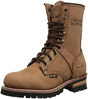 "AdTec Women's 9"" Logger Brown Work Boot"