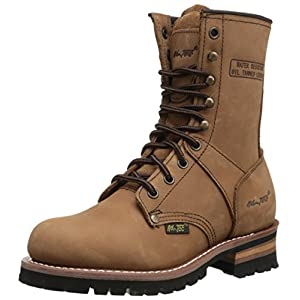 Ad Tec Women's 9″ Logger Brown-W Boot