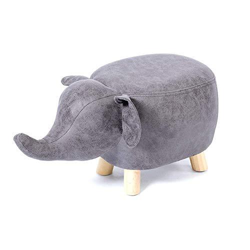 B-fengliu Sala de cuero suave bajo la forma de dibujos animados elefante animal impermeable otomana Reposapiés la creatividad de los niños de los niños del sofá del taburete de la decoración del hogar