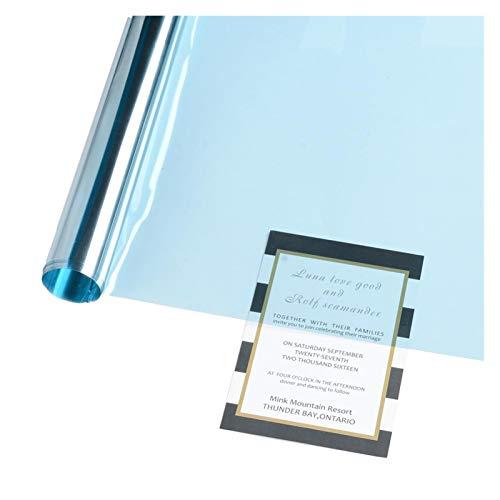 shiyi 50 Cm X 3m Azul 70% VLT Venta DE Coche TINTS TINTS Ventana Tintado Cine Protección Solar Sombra Sombra Solares (Size : 50x300cm)