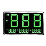 Centeraly Velocímetro universal digital GPS de pantalla grande para bicicleta HUD con sistema de advertencia de exceso de velocidad