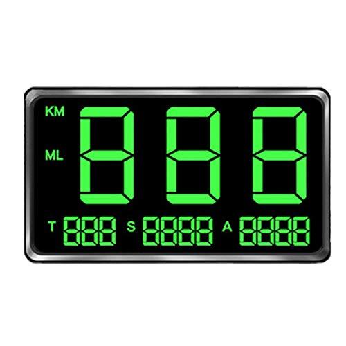GPS HUD Tachometer, digital, großer Bildschirm, universeller GPS-Geschwindigkeitsmesser, HUD Bike Overspeed Warning System, schwarz