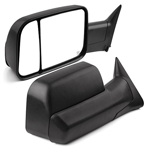 YITAMOTOR Towing Mirrors Compatible with Dodge Ram, Power Heated with Support Bracket Tow Mirrors, Replacement for Dodge Ram 1998-2001 1500, Dodge Ram 1998-2002 2500 3500