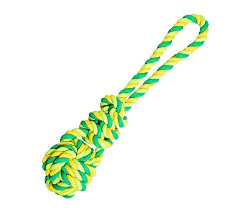 Petahovadlo Ball Mit Einem Knoten Hip-Hop-Baumwolle 23cm / 90g Kalk -, Grün -, Hiphop -, Baumwolle -, Aktiv-Und Weiterbildung, Baumwolle, Plüsch, Terry, Spielzeug, Hunde, Ne