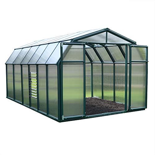 Palram Rion Hobby Gardener Serre de Jardin - Polycarbonate Ultra Résistant et Protégé du Soleil - Verte