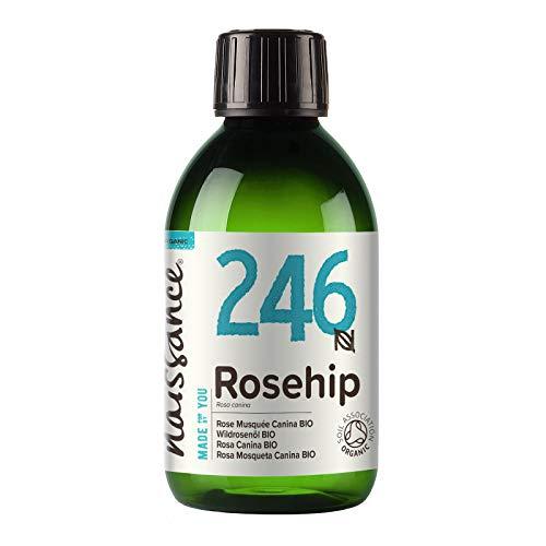 Naissance Huile de Rose Musquée Vierge Certifiée BIO (n° 246) - 250ml - 100% pure, naturelle et pressée à froid - pour le soin du corps, des cheveux, du visage, et des ongles