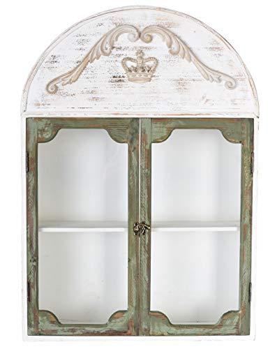 Hängevitrine Shabby Chic Wandschrank Vitrine Vintage Wandregal sod039 Palazzo Exklusiv