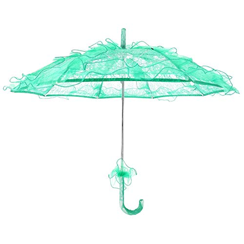 Zyyini paraplu van kant, voor bruidsmeisjes Oranje