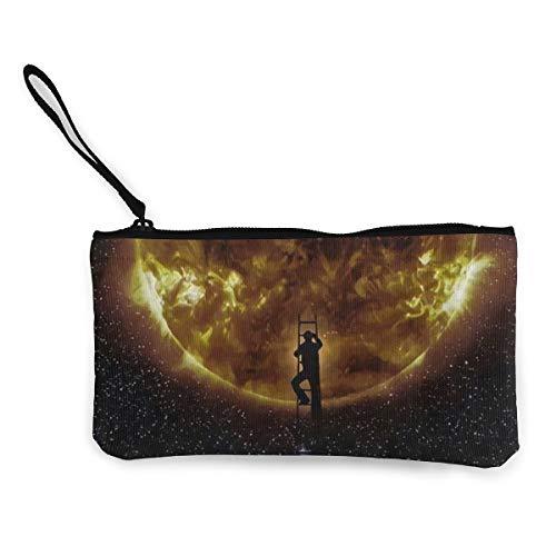 FIRS Climb The Light Moon In Dark Galaxy Damen-Kosmetiktasche mit Reißverschluss, 11,4 x 21,6 cm
