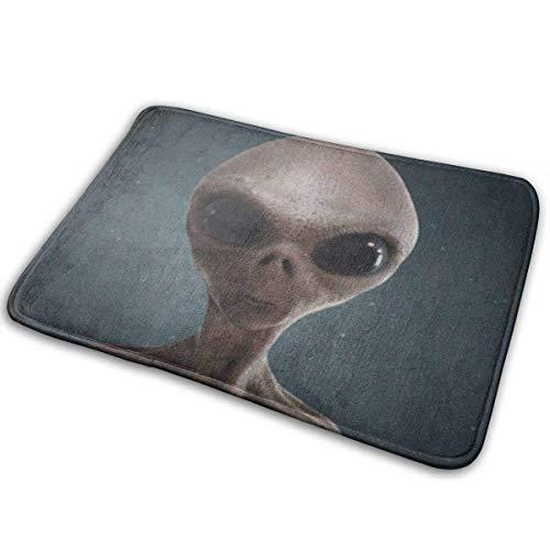 NA Alfombrilla de baño, Alfombrillas de Bienvenida, Alfombra para Puerta Alfombra para Puerta Alfombrilla para Puerta Alfombrillas para Puerta Blue Eye Alien Grey UFO Space Invaders Creature Grey