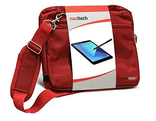 Navitech rotes Premium Case/Cover Trage Tasche für dasArchos Diamond Tab 10.1